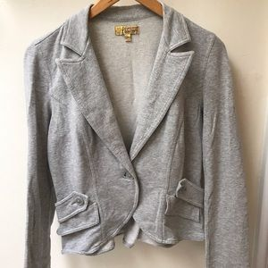 Grey Vera Wang blazer with elbow patches